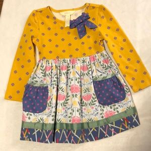 Like new Matilda Jane Gold Star dress size 2T